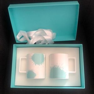 Tiffany Color Splash Mugs in Bone China, Set of 2